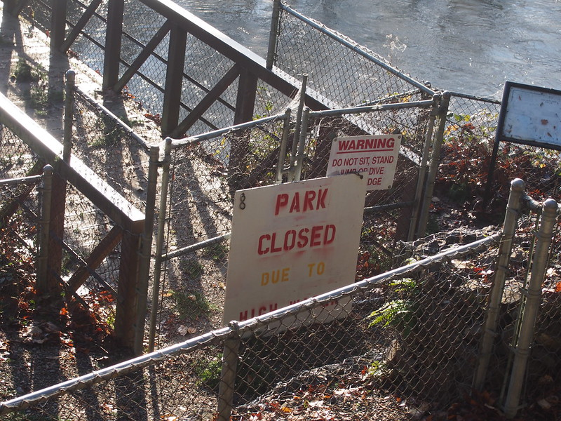 Al Borlin Park: Closed Due to Flooding