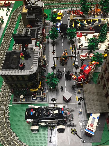 DSO LEGO display Movie scene