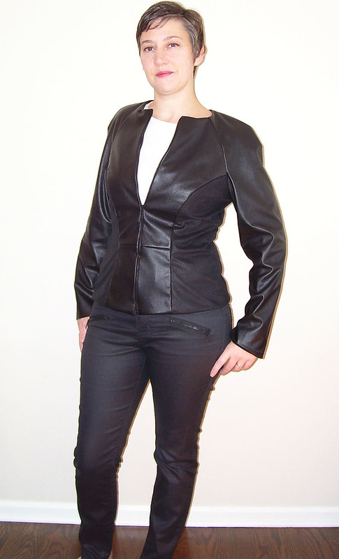 Faux leather jacket by mahlicadesigns