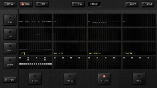 KORG iDS-10 Main screen