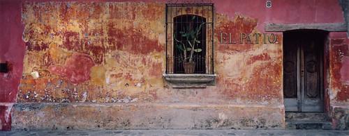 Classic Antiguan wall with door and window