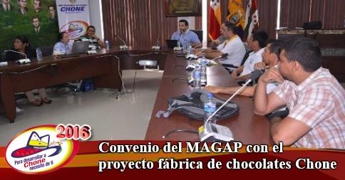 Convenio del MAGAP con el proyecto fábrica de chocolates Chone
