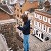 Ruby looking over Guildford Highstreet - David Wren - Nikon L35AF Portra 400