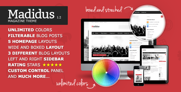 Madidus v1.2.8 - Blog & Magazine Theme