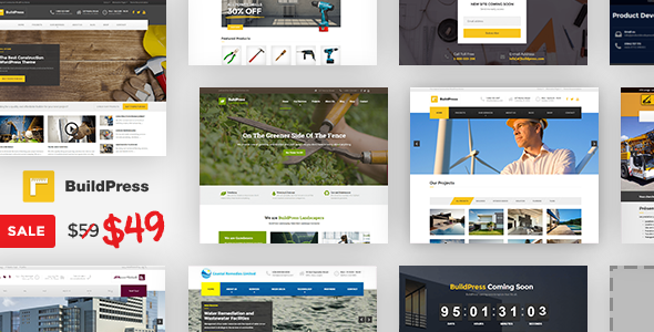 BuildPress v5.1.1 – Multi-purpose Construction and Landscape WP Theme