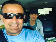 On the way to drop my grandson in the school after spring break and after hit the LA Fitness for workout with my daughter she I is my personal trainer #sonsofcavalcantidallas #iamcavalcanti