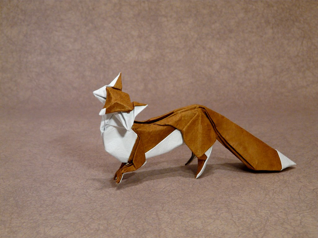 Fox by hong tin quyt by andrea borsa march 2017 origami find this pin and more on march 2017 origami by origamime jeuxipadfo Image collections