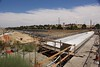 Another view of the eastern side of the overpass extension, with a view of Hwy 4 underneath.