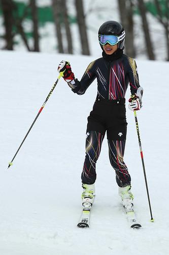 houslistka Vanessa Mae zThajska na zimních olympijských hrách vSoči 2014, Rosa Khutor, 10.února2014