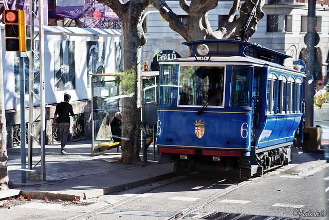 Tibidabo Tram. Barcelona. Spain