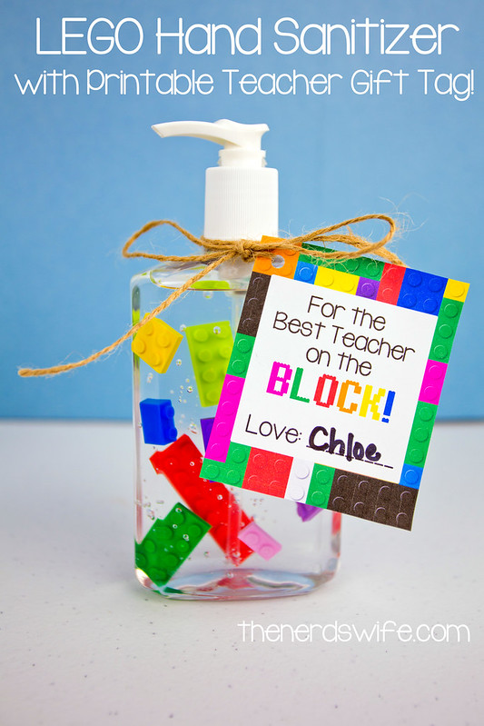 LEGO Hand Sanitizer with Teacher Gift Tag