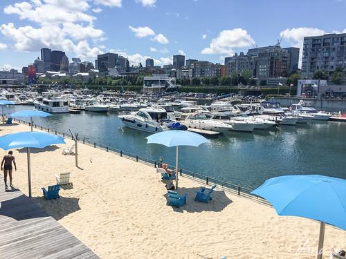 Manmade beach