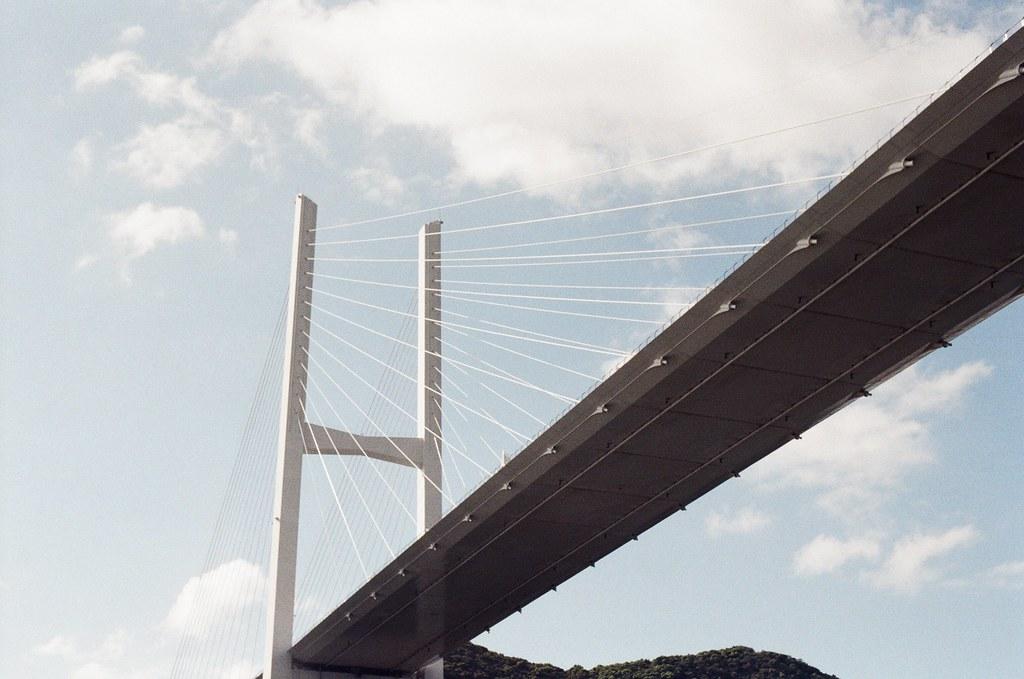 女神大橋 長崎港 Nagasaki 2015/09/07 返回長崎港  Nikon FM2 / 50mm Kodak UltraMax ISO400 Photo by Toomore