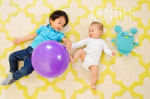 Oliver & Elliot - Month 6
