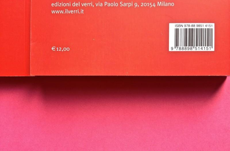 Edizioni del Verri / Collana rossa. Progetto grafico di Valerio Anceschi e Giovanni Anceschi. Due quarte di copertina (part.), 3