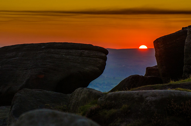 Watching the Sun Going Down from Stanage Edge
