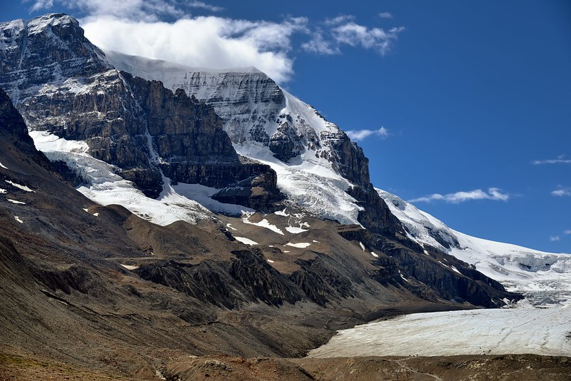 Mount Andromeda and the Athabasca Glacier (Icefields Parkway)