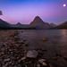 Moon Beams on Two Medicine Lake by J. Moore Outdoor Photography