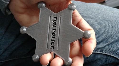 3D Printing - Fun Police - First Print