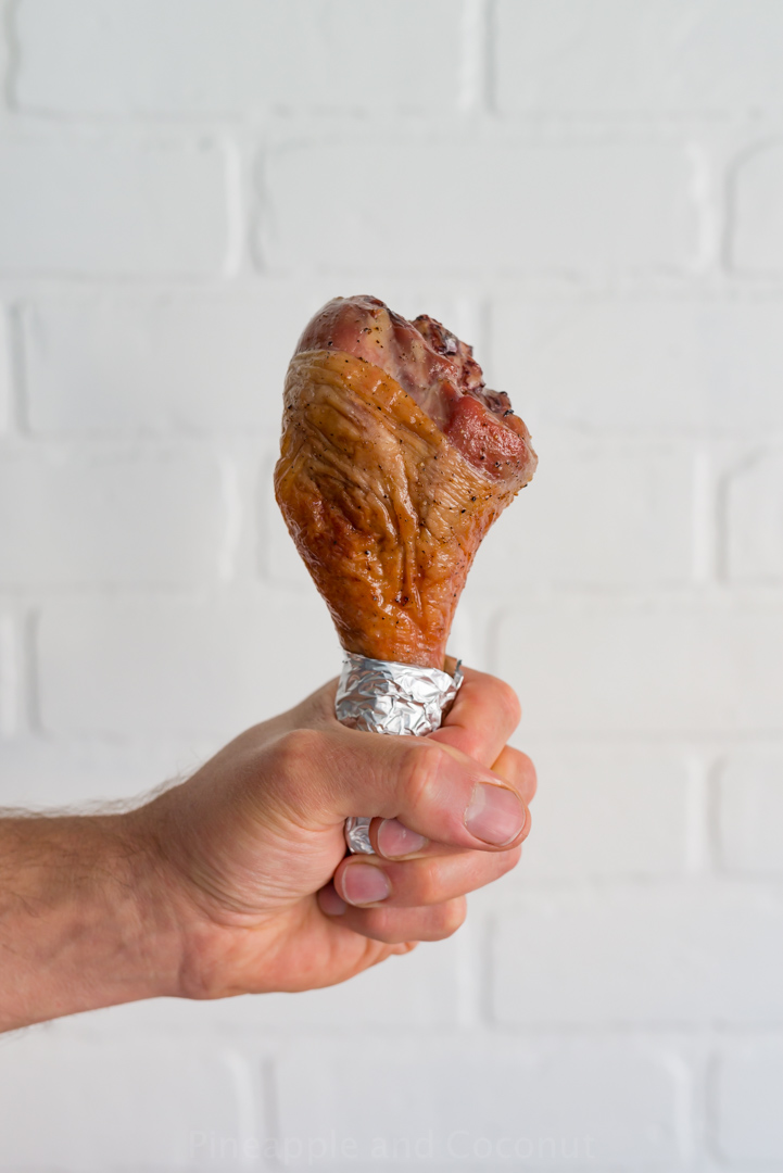 Maple Bourbon Brined Turkey Legs www.pineappleandcoconut.com #Easydoesit #ad