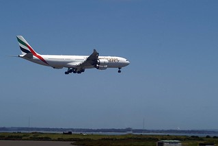 Emirates Airbus A340-541 A6-ERI arriving AKL from DXB
