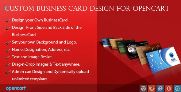 CodeCanyon Custom Business Card Design for OpenCart