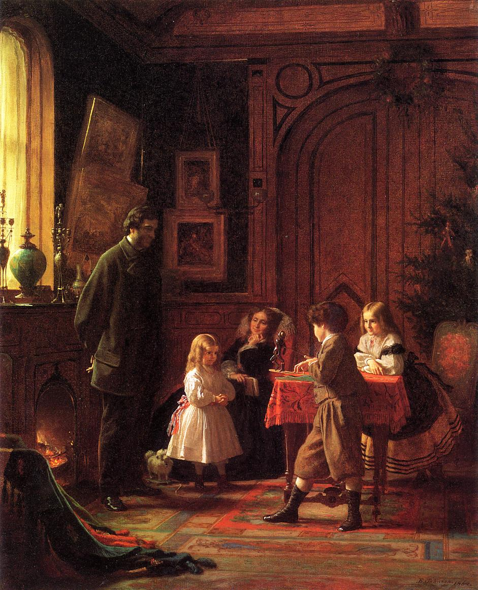 Christmas Time by Eastman Johnson - 1864