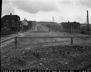 Hill Street looking east from Rainier Avenue, 1914