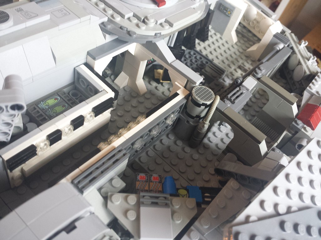 Lego Millennium Falcon interior front