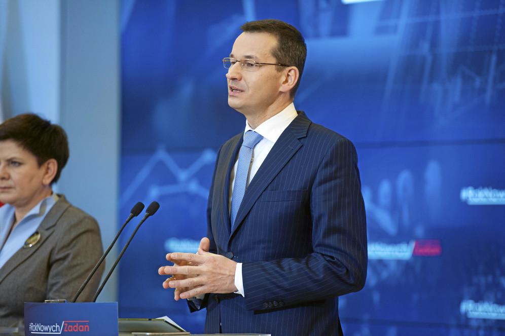 Konferencja wicepremiera Mateusza Morawieckiego i ministra Henryka Kowalczyka