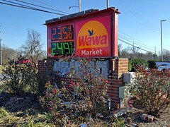 Damaged Wawa sign