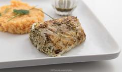 Za'atar-wu-zayt codfish and turmeric basmati…