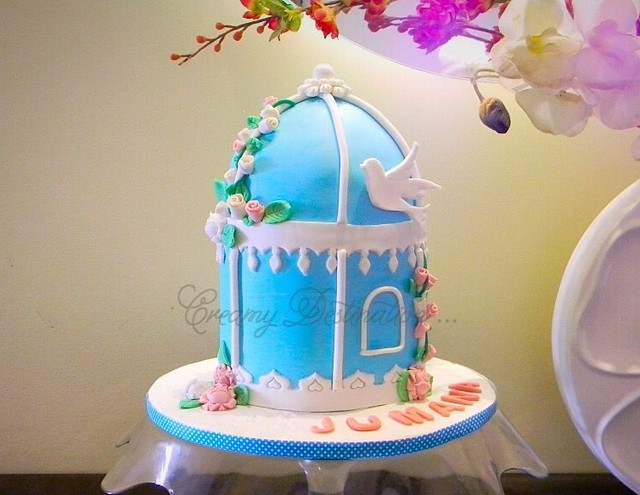 Bird Cage Cake by Aisha Hafeez of Creamy Destination