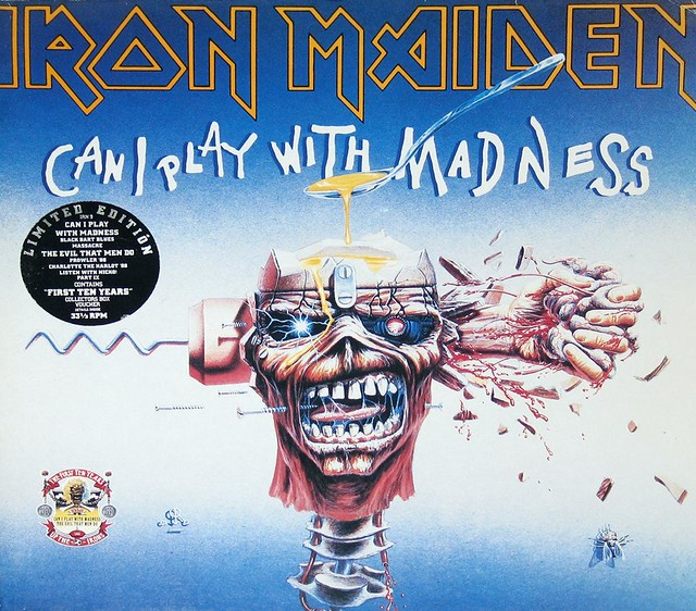 IRON MAIDEN CAN I PLAY WITH MADNESS FIRST TEN YEARS DOUBLE LP
