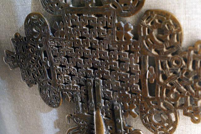 Croix chrétienne d'Ethiopie au Musée National de Varsovie.