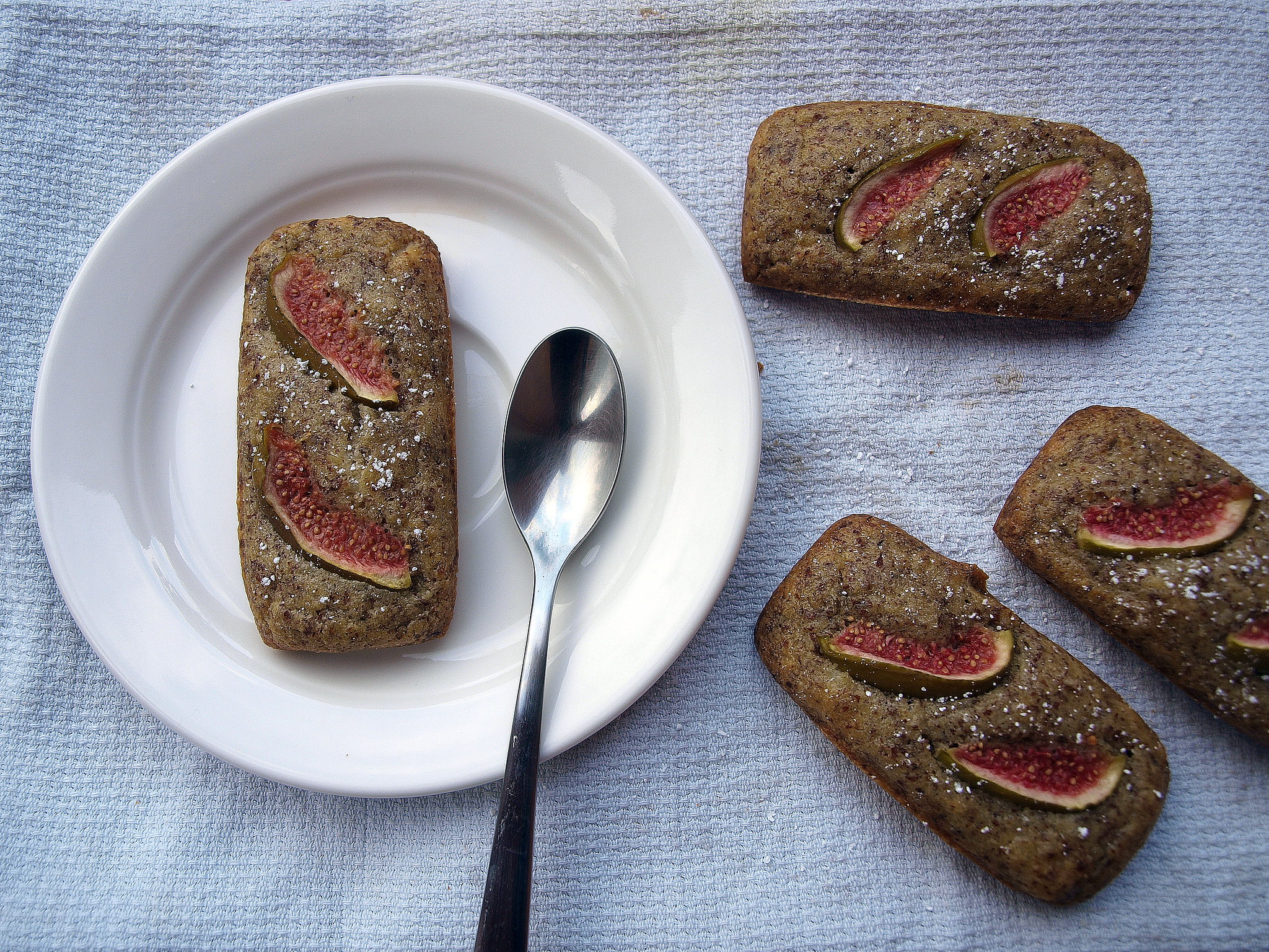 Savory Financiers with wild figs and Pecorino sardu