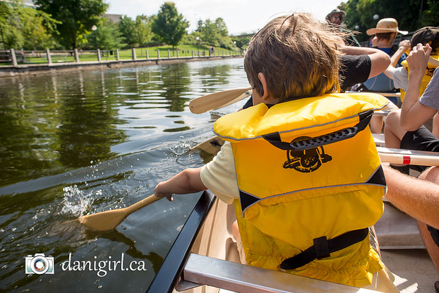 Voyageur canoe tour on the Rideau Canal
