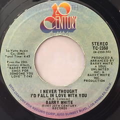 BARRY WHITE:IT'S ECSTASY WHEN YOU LAY DOWN NEST TO ME(LABEL SIDE-B)