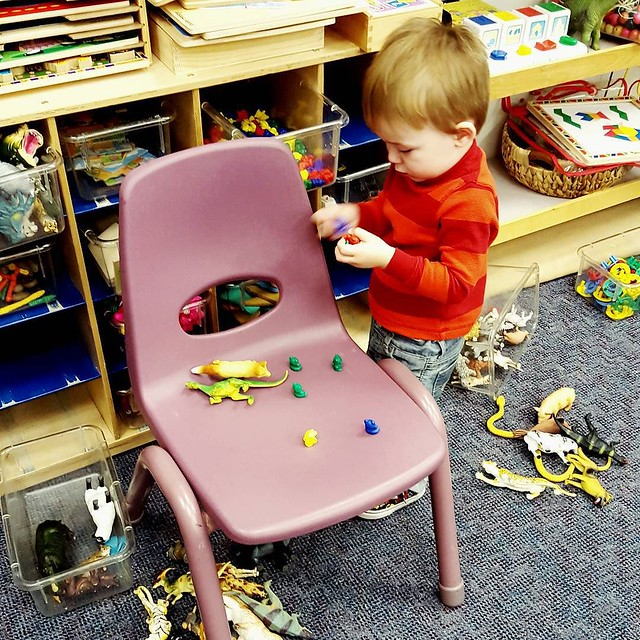 Matteo and I spent the morning at our first StrongStart today. I was glad to see preschool toys haven't changed in 25 years. I think I had as much fun remembering them as Matteo had playing with them. #365photochallenge #strongstart #preschool #coquitlam