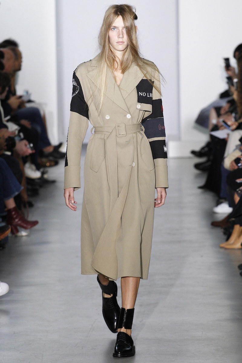 YANG LI SS16 patched trench ankle detail loafers MODERN LEGACY