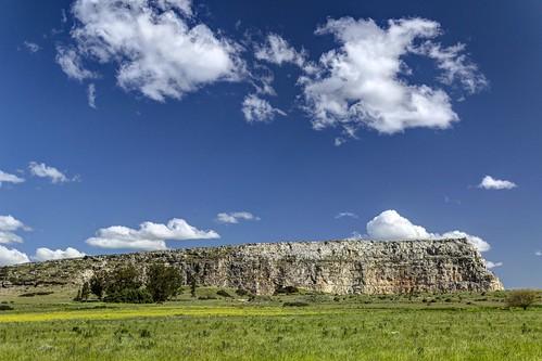 Quarry and sky