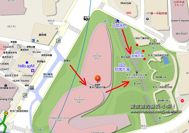 東大門LED地圖
