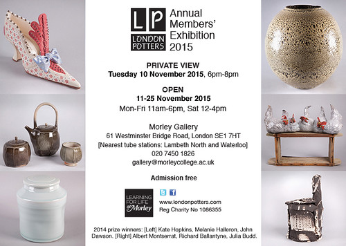 London Potters Exhibition 2015 Flyer