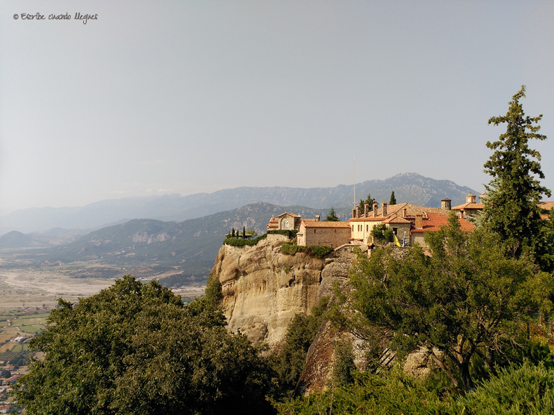 Convento visitable, en Meteora