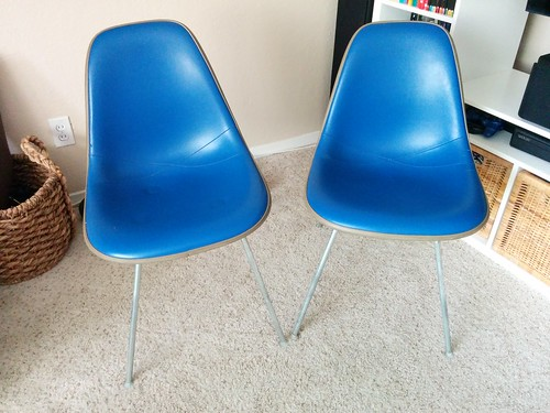 Herman Miller Eames Shell Chairs, Blue