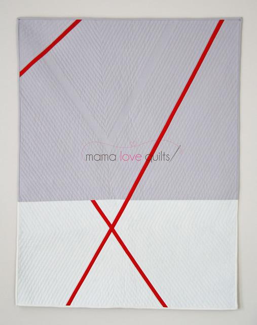 Red X Modern Quilt