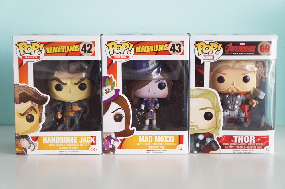 Pop! Handsome Jack, Mad Moxxi & Thor in box