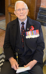 War veteran takes part in remembrance ceremony