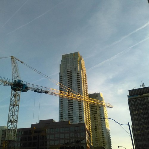 Cranes by evening #toronto #yongeandeglinton #condos #evening #cranes