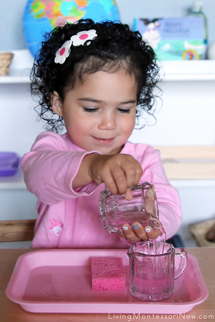 Pouring Water at 2 Years